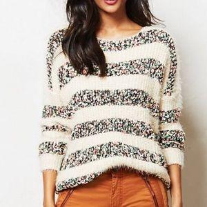 Le Fee Verte confetti textured stripe sweater SZ S